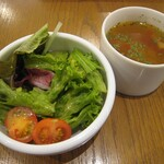 Toasty's - ランチセット:サラダ&スープ