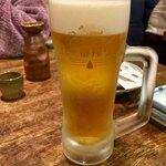 さえ丸おじさんの店 - 生ビール 中 550円