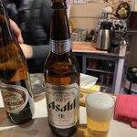 立ち飲み処 ○ - 大ビンビール(アサヒ)♪