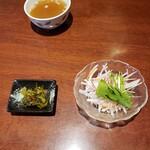 123354304 - お漬物 サラダ スープ