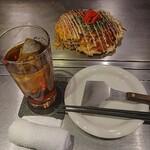 いち香 - 広島風お好み焼(肉玉そば入り)