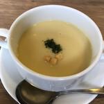 レストラン せんごく - セットのコーンポタージュスープ