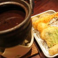 ホタル - 味噌タレ&串かつ盛り合わせ