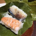 三輪山本 お食事処 - 鯖と海老を頂きました