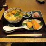富山 はま作 - 氷見うどんとます寿司セット 1530円
