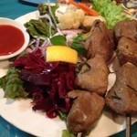 中級ユーラシア料理店 元祖 日の丸軒 - 子羊のケバブ