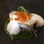 123370672 - 寒鰆の幽庵焼き 小松菜のソース