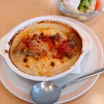 ジョイフル - 料理写真:チキンドリア 504円 サラダセット+ドリンクバー 330円