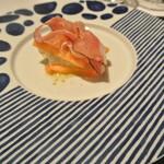 リストランテ カノフィーロ - 水牛のモッツアレラと富有柿、スペック