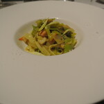 リストランテ カノフィーロ - ホタテとポロ葱、サフランのソース タリアテッレ