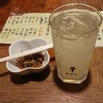 炉ばた 万年青 - 料理写真:お通し きんぴら レモンサワー