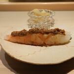 鮨 なんば - ボタン海老に海老殻と海老味噌