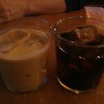 nil cafe - アイスカフェラテにアイスコーヒー!