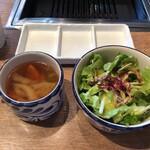 六本木焼肉 Kintan - スープ & サラダ