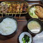 小金家 - 焼き鳥定食 1040円