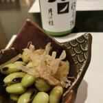 小田原 海の幸 山の恵 味乃魚隆 - お通し ひたし豆と数の子