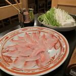 小田原 海の幸 山の恵 味乃魚隆 - 金目鯛のしゃぶしゃぶ