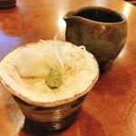 蕎麦がき屋 - 薬味と麺つゆ