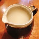 蕎麦がき屋 - 蕎麦湯
