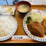 123404483 - 「コンビメニュー」は「井坂煮」と散々悩んで「メンチカツ」に!!