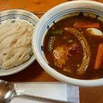12342604 - スープカレー米麺(720円)はつけ麺タイプ