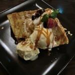 カフェ 仁音 - ふわふわシフォンケーキ+アイス