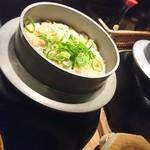 居酒屋 次郎長 - 飲み放題コースの〆のお料理に釜飯が仲間入り♪(〆のお料理はおまかせとなっております)