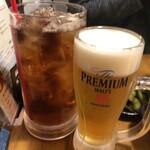 umasuebisu - 【ウーロン茶】390円と【生ビール】490円 ウーロン茶は大ジョッキで来る