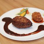 kitchen俊貴 - 2020年1月再訪:ハンバーグ&ズワイ蟹のクリームコロッケ☆