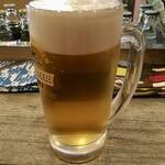大衆馬肉酒場 ジョッキー - 「生ビール」500円也。