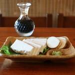 茅ヶ崎 そば処 榮家 - 自然薯のお刺身