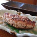 茅ヶ崎 そば処 榮家 - 京鴨つくね串焼き(塩)アップ