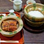大國屋鰻兵衛 - ■炭焼きうなぎと土釜で炊いたご飯 6600円