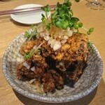 Izakayabunka - 鶏のから揚げ 香味野菜ポン酢かけ