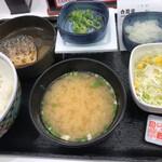 吉野家 - 塩鯖納豆定食