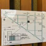 ぶた いながき - 駐車場マップ(店頭3台のみ&CP)