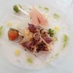 CP RESTAURANT - 前菜 ホテルイカのカルパッチョ