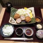 Kitashinchikushiagekanayama - 【北新地ランチ】 自家製ミンチカツ