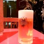 123483653 - 郷土料理ユック@新千歳空港店 酒肴セットの生ビール