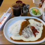 カレー専門店 パピー - ...「3.とろけるチーズチキンカツとカレーライス(1030円)」、まいう(*´∪)ェヘヘ