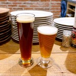 東京ブッチャーズ with OKACHI Beer Lab - AKIOKAアンバー(R 580円) KACHIKURA IPA(R 580)