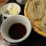 123490556 - そば汁・山葵・葱・辛味大根
