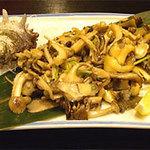 麹屋 - サザエと木の子のバター焼@和ごはん麹屋