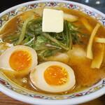 123524685 - 味噌チャーシューメン(味付卵+バター トッピング)