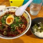 広島中華そば がんぼ - 料理写真:赤そば、のりごはんセット