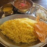 インド食堂 - ・ノンベジタリアン ライス大 950円