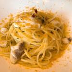 井上誠耕園 ファームズテーブル 忠左衛門 - 島の地魚とカラスミのアーリオオーリオ