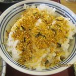 京田辺三山木食堂 - ご飯、ふりかけ付きです