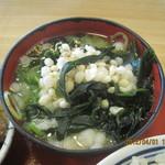 京田辺三山木食堂 - 味噌汁