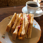 喫茶翡翠 - たまごトースト 500円
